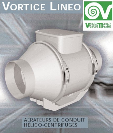 Ventilateur centrifuge VORTICE modèle Lineo 125 VO