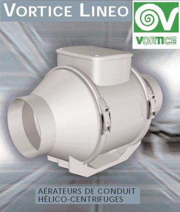 Ventilateur centrifuge VORTICE modèle LINEO 150 VO