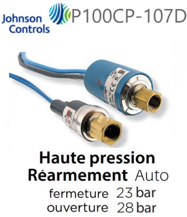 Pressostat Cartouche P100CP-107D JOHNSON CONTROLS