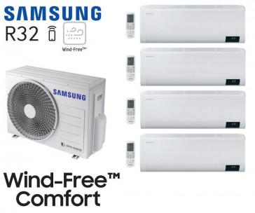 Samsung Wind-Free Comfort Quadri-Split AJ080TXJ4KG + 3 AR07TXFCAWKN + 1 AR12TXFCAWKN