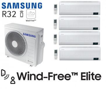 Samsung Wind-Free Elite Quadri-Split AJ080TXJ4KG + 3 AR07TXCAAWKN + 1 AR12TXCAAWKN