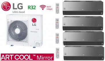 LG Quadri-Split ARTCOOL MIRROR MU4R25.U21 + 3 X AM07BP.NSJ + 1 X AC12BQ.NSJ