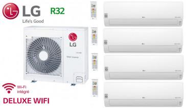 LG Quadri-Split DELUXE WIFI MU4R25.U21 + 3 X DM07RP.NSJ + 1 x DC12RT.NSJ - R32