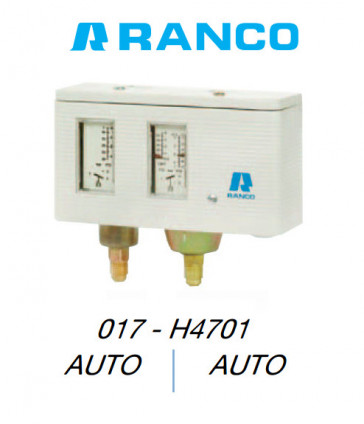 Pressostat double automatique 017H4701 Ranco