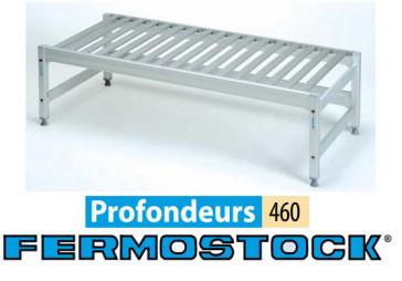"Ensemble rayonnages bas fixe à clayettes POLYMÈRE - 460 mm ""Fermostock"""