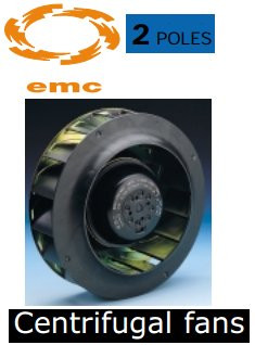 Ventilateur centrifuge de EMC RB2C-250/084 K202 l