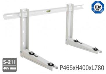 Support universel réglable pré-monté avec niveau jusqu'à 160 kg - 780 x 465mm
