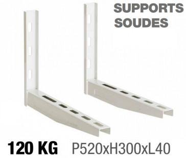 Supports muraux soudés 520 x 300 - 120kg