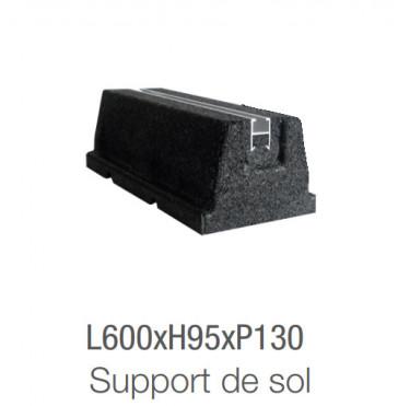 Support au sol en caoutchouc 600 mm
