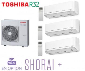 Toshiba SHORAI + Tri-Split RAS-3M26U2AVG-E + 2 RAS-B07J2KVSG-E + 1 RAS- B13J2KVSG-E