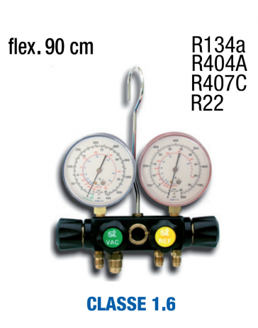 Manifold 4 voies R134, R404, R22 et R407
