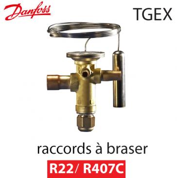 Détendeur thermostatique TGEX 26 - 067N2015 - R22/R407C Danfoss