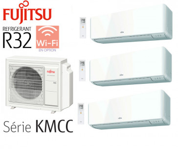 Fujitsu Tri-Split Muraux AOY50M3-KB + 3 ASY20MI-KMCC