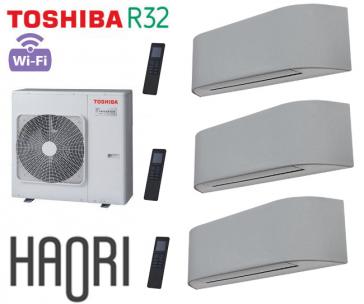 Toshiba HAORI Tri-Split RAS-3M26U2AVG-E + 3 RAS-B10N4KVRG-E
