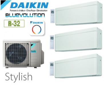 Daikin Stylish Trisplit 4MXM80N9 + 2 FTXA20AW + 1 FTXA42AW - R32