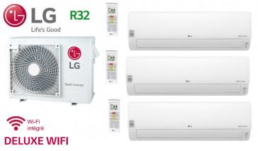 LG Tri-Split DELUXE WIFI MU3R21.U21 + 2 X DM07RP.NSJ + 1 x DC12RT.NSJ - R32