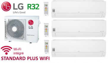 LG Tri-Split STANDARD PLUS WIFI MU3R19.U21 + 2 X PM05SP.NSJ + 1 x PC09SQ.NSJ - R32