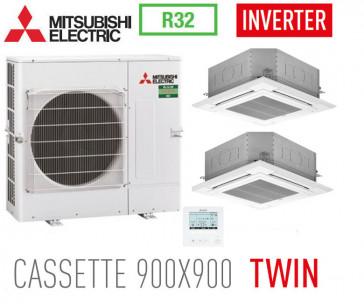 Ensemble Twin INVERTER PUZ-M100VKA + 2 PLA-M50EA