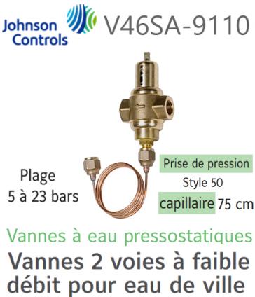 Vanne à eau pressostatique V46SA-9110 Johnson Controls