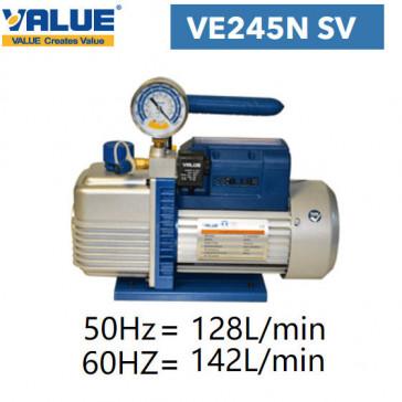 Pompe à vide double étage avec vacuomètre VE245N SV