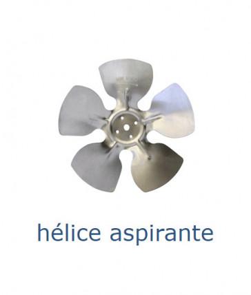 Hélice aluminium 300 mm - 28º - aspirante