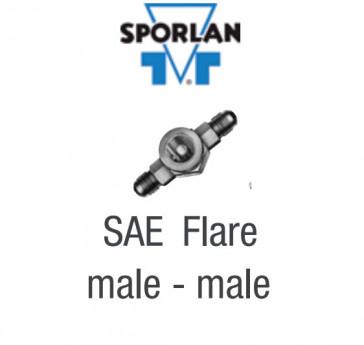 """Voyant de liquide avec indicateur d'humidité Sporlan SA-14 - Raccordement 1/2"""" à visser M X M"""