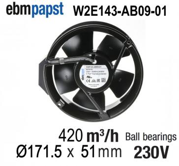 Ventilateur Axial W2E143-AB09-01 de EBM-PAPST