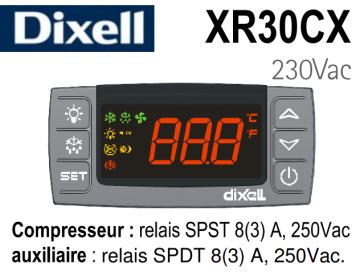 Régulateur digital XR30CX- 5N0C0 de Dixell