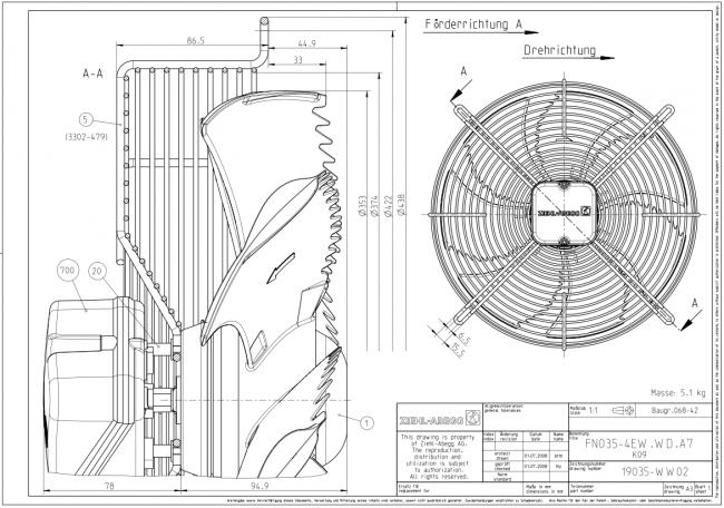ventilateur h u00e9lico u00efde fn035-4ew wd a7 de ziehl-abegg - ventilateurs h u00e9lico u00efdes