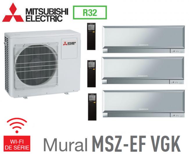 1 MSZ-SF35VE Mitsubishi Tri-split Mural Inverter MXZ-3D68VA 2 MSZ-SF15VA