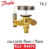 Détendeur thermostatique TX 2 - 068Z3206 - R 22/R 407C Danfoss