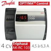 Régulateur de chambre froide Optyma Control - Triphasé 4 cv, 4,5 à 6,3 A - AK-RC103 de Danfoss