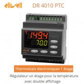 Régulateur un étage pour la température, avec double affichage DR 4010 PTC de Eliwell