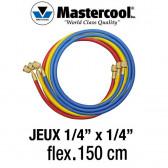 """Jeux de flexibles 1/4"""" x 1/4""""- 150 Cm Mastercool"""