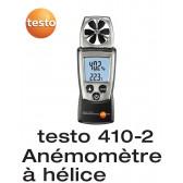 Testo 410-2 - Anémomètre à hélice avec mesure d'humidité intégrée et thermomètre CTN