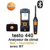 Testo 440 - Anémomètre multifonctions + Set « Humidité » avec BT