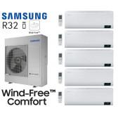 Samsung Wind-Free Comfort 5-Split AJ100TXJ5KG + 4 AR07TXFCAWKN + 1 AR12TXFCAWKN