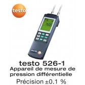 Testo 526-1 - Appareil de mesure de pression différentielle 0...2000 hPa