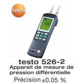 Testo 526-2 - Manomètre différentiel très précis 0...2000 hPa