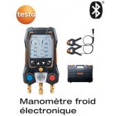 Testo 550s kit de base - Manifold électronique intelligent avec sondes de température filaires à pince