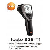 Testo 835-T1 - Thermomètre infrarouge avec marquage laser 4 points