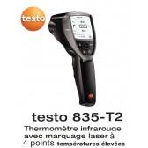 Testo 835-T2 - Thermomètre infrarouge pour température élevée - marquage laser 4 points