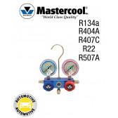 Manifold 2 Vannes à piston pour climatisation automobile Mastercool R134a-R404A-R407C-R22-R507