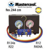 Manifold 4 vannes à bille - R134a, R22, R12 et R404A pour climatisation automobile de Mastercool