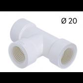 Raccord en T pour Tube d'évacuation de condensats Ø 20 mm