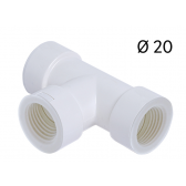 Raccord en T Ø 20 pour tube rigide