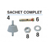 Kit complet amortisseurs et fixation (Type B7)