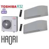 Toshiba HAORI Bi-Split RAS-3M26U2AVG-E + 2 RAS-B16N4KVRG-E