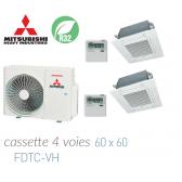 Mitsubishi Heavy Industries Bi-split Cassette 4 voies 60 x 60 SCM50ZS-W + 2 FDTC25VH