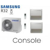 Samsung Console au sol Bi-Split AJ050TXJ2KG + 2 AJ026TNJDKG